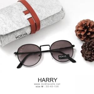 [pre-order] HARRY แว่นทรงหยดน้ำ กรอบโลหะ กว้าง 138 มม. (size M)