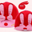 HT095••หมวกเด็ก•• / หมวกแก๊ปกระต่าย [สีแดง] thumbnail 4