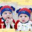 HT424••หมวกเด็ก•• / หมวกบีนนี่-สุนัข (สีแดง) thumbnail 4