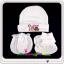 ชุดหมวก ถุงมือ ถุงเท้า ผ้าลิปเข้าชุดกัน (แพ็ค 6 เซ็ต) thumbnail 5