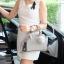 กระเป๋า KEEP saffiano leather Mini office bag สีเทา สวย น่ารัก ขนาดตอบทุกโจทย์การใช้งาน thumbnail 13