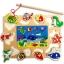 ของเล่นไม้ ชุดตกปลา จิ๊กซอ Magnetic fishing puzzle board thumbnail 1