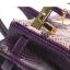 กระเป๋าถือสะพาย ขนาด 30 เบอกิ้นปั้มลายงานหนังวัวแท้ สีทูโทน (Leather100%) thumbnail 6