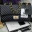 กระเป๋า KEEP shoulder chevon chain handbag สีดำ สวย หรู มากๆ เลยน๊า กระเป๋าอยู่ทรง #หนังแกะนิ่มมากคะ สายโซ่สะพายสบายคะ สายปรับ สั้น ยาวได้คะ ภายในสีแดง มีช่องใส่ของจุกจิกหลายช่องแบ่งเก็บของเป็นสัดส่วนมากๆคะ #ใบจริงสวยมาก เข้ากับชุดได้ง thumbnail 2
