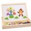 ของเล่นไม้ กระดานแม่เหล็กต่อภาพ 2 หน้า Animal Magnetic Puzzle thumbnail 1