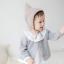 HT316••หมวกเด็ก•• / [สีน้ำตาล+เทา] หมวกไหมพรมทรงสูง thumbnail 1