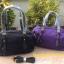 กระเป๋า MANGO NYLON HANDBAG สีดำ กระเป๋าผ้าไนล่อนเนื้อดีและหนา ทรงหมอน มาพร้อมสายสะพายยาว thumbnail 7