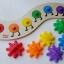 จิ๊กซอตัวหนอนจับคู่สี สร้างเฟืองหมุนต่อกัน Rainbow Caterpilar Gear Toy thumbnail 9
