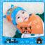 AP149••เซตหมวก+ผ้ากันเปื้อน•• / [สีส้ม] แมวเหมียว+ปลา thumbnail 2