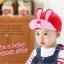 HT095••หมวกเด็ก•• / หมวกแก๊ปกระต่าย [สีแดง] thumbnail 2