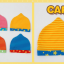 AP181••เซตหมวก+ผ้ากันเปื้อน•• / ดาว [สีเหลือง-ฟ้า] thumbnail 6