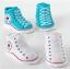 ถุงเท้าเด็กอ่อน 0-12 เดือน พิมพ์ลายรองเท้าผ้าใบ พื้นมีกันลื่น thumbnail 1