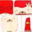 HT404••หมวกเด็ก•• / หมวกบีนนี่-หมีมงกุฎ (สีฟ้า) thumbnail 5