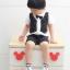 SK014••ถุงเท้าเด็ก•• โบว์ดำ (พื้นดำ-ข้อสั้น) thumbnail 3