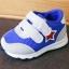 รองเท้าคัชชูเด็กเล็ก สีฟ้าเทาดาวแดง Sport ผ้าตาข่ายฟองน้ำนิ่ม (เท้ายาว 10-12.5 ซม.) thumbnail 2