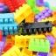 ของเล่นบล็อคตัวต่อเลโก้ชิ้นใหญ่สำหรับเด็กเล็ก แบบถังหิ้ว 180 ชิ้น thumbnail 3