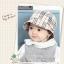 HT472••หมวกเด็ก•• / หมวกปีกกว้าง-ลายสก็อต burberry (สีครีม) thumbnail 1