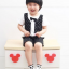SK014••ถุงเท้าเด็ก•• โบว์ดำ (พื้นดำ-ข้อสั้น) thumbnail 2