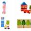 ชุดบล็อคไม้ของเล่น ทรงเรขา สร้างเมือง 62 ชิ้น thumbnail 10
