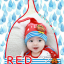 HT195••หมวกเด็ก•• / [สีแดง] นกฮูก thumbnail 1