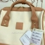 กระเป๋าเป้ Anello Polyester Canvas Rucksack Classic สีขาว- วัสดุผ้าแคนวาสอย่างดี รุ่นคลาสสิกพิเศษมีซิปด้านหลัง thumbnail 5