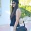 กระเป๋าสะพายข้าง MANGO TOUCH รุ่น tassel quited pattern bag สีดำ ส่งฟรี thumbnail 2