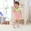 จั๊มสูทเด็ก ทรงทหารเรือรายริ้วสีส้ม - เขียว สำหรับเด็ก 3-12 เดือน thumbnail 3