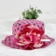 หมวกปีกเด็กหญิงลายจุด ติดดอกไม้ใหญ่ สำหรับเด็กวัย 2-5 ขวบ thumbnail 2