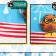 HT195••หมวกเด็ก•• / [สีแดง] นกฮูก thumbnail 9