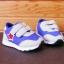 รองเท้าคัชชูเด็กเล็ก สีฟ้าเทาดาวแดง Sport ผ้าตาข่ายฟองน้ำนิ่ม (เท้ายาว 10-12.5 ซม.) thumbnail 9