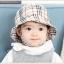 HT472••หมวกเด็ก•• / หมวกปีกกว้าง-ลายสก็อต burberry (สีครีม) thumbnail 3