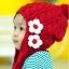 หมวกไหมพรมถัก กันหนาว ติดดอกไม้น่ารัก มีสายปอมปอมปิดหู thumbnail 4