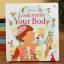 หนังสือบอร์ดบุ๊คเปิดสนุก Flap book Look inside your body by Usborne thumbnail 1