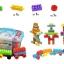 ของเล่นบล็อคตัวต่อเลโก้ชิ้นใหญ่สำหรับเด็กเล็ก แบบถังหิ้ว 180 ชิ้น thumbnail 5