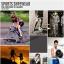 กางเกงออกกำลังกายผู้ชาย Men Fitness สีเทาคาดฟ้า thumbnail 6