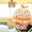 HT481••หมวกเด็ก•• / หมวกปีกกว้าง-กระต่าย (สีส้ม) thumbnail 3
