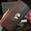 กระเป๋า CHARLE & KEITH TURN LOCK WALLET 2016 ใช้ถือหรือสะพายทรงคลัช ล่าสุดชนช็อป! วัสดุหนัง Saffiano สวยหรูสไตล์ PRADA thumbnail 4