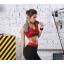 สปอร์ตบรา ชุดกีฬาผู้หญิง รุ่นซิปหน้า รองรับแรงกระแทกระดับ 4 ใส่สบาย - สีแดง thumbnail 2