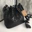 กระเป่า David Jones Bucket Leather Size L (bag) กระเป๋าสะพายข้างดีไซน์เกร๋มาก สีดำสวยมาก chic thumbnail 4