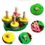 ของเล่นไม้ บล็อคไม้สวมหลัก เสริมพัฒนาการ รูปเต่าทอง thumbnail 1
