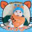 AP149••เซตหมวก+ผ้ากันเปื้อน•• / [สีส้ม] แมวเหมียว+ปลา thumbnail 1