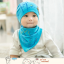 AP205••เซตหมวก+ผ้ากันเปื้อน•• / Camp [สีฟ้า] thumbnail 3