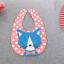 ผ้าซับน้ำลายปลายโค้ง ผ้ากันเปื้อนเด็ก แบบใช้ได้ 2 ด้าน / หน้าลายสัตว์-หลังลายขวาง (มี 3 ลาย) thumbnail 5