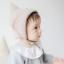 HT316••หมวกเด็ก•• / [สีน้ำตาล+เทา] หมวกไหมพรมทรงสูง thumbnail 3