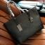 กระเป๋า GUESS SAFFIANO SHOPPER BAG สีดำ กระเป๋าสะพายทรง Tote thumbnail 3
