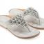 รองเท้าแตะหูหนีบไซส์ใหญ่ Desy Flower สีเทา KR0256 thumbnail 1
