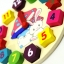 ของเล่นไม้ นาฬิกา บล็อคตัวเลขและรูปทรง Multicolor Brick Clock thumbnail 4