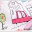 ผ้าซับน้ำลายเด็ก ผ้ากันเปื้อนเด็กเล็ก แบบ 360 องศา ปลายหยักโค้ง - ยี่ห้อ Mom's care / ลาย Zebra thumbnail 3