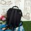 กระเป๋าเป้ Anello The emporium สีดำ (limited edition) ขนาดมินิ กำลังดี วัสดุผ้าแคนวาสสลับหนัง polyester thumbnail 2