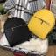 กระเป๋าสะพายเป้ ZARA Sturby Backpack With Zips 2017 สไตล์ PRADA สีเหลือง thumbnail 14